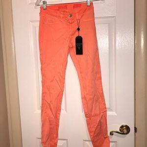 Guess orange jeans